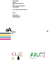 Proceedings of the Fifth Italian Conference on Computational Linguistics CLiC-it 2018