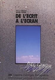De L Ecrit A L Ecran Chapitre 2 Le Livre Sur Un Plateau La Lecture Figuree Editions De La Bibliotheque Publique D Information