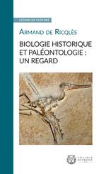 Biologie historique et paléontologie: un regard