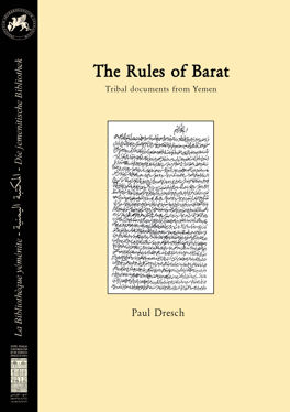 The rules of Barat. Tribal documents from Yemen