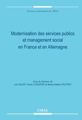 Modernisation des services publics et management social en France et en Allemagne