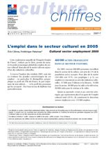 Employment in the cultural sector in 2005