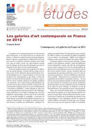 Les galeries d'art contemporain en France en 2012