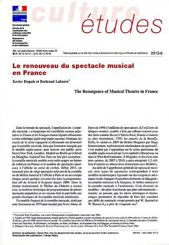 Le renouveau du spectacle musical en France
