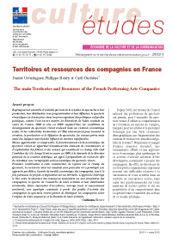 Territoires et ressources des compagnies en France