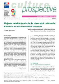 Enjeux intellectuels de la diversité culturelle