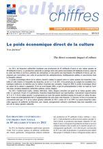 Le poids économique direct de la culture en 2013