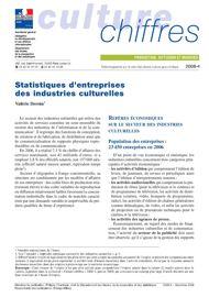 Statistiques d'entreprises des industries culturelles
