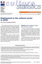 L'emploi salarié dans le secteur de la culture