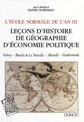 L'École normale de l'An III. Vol. 2, Leçons d'histoire, de géographie, d'économie politique