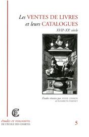 Typologie des catalogues de vente