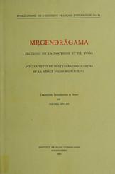 Mṛgendrāgama. Sections de la doctrine et du yoga