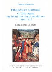 Finances et politique en Bretagne