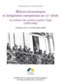 Quelle politique industrielle pour l'Europe? Lesprojets des Commissions Jenkins etThorn (1977‑1984)