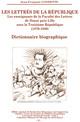 Notices biographiques des enseignants titulaires de la faculté des Lettres de Douai puis de Lille sous la Troisième République