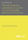 The role of German universities in a system of joint knowledge generation and innovation