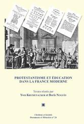 Protestantisme et éducation dans la France moderne