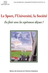 Le Sport, l'Université, la Société