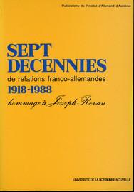 Les prisonniers de guerre allemands et l'économie française 1943-1948