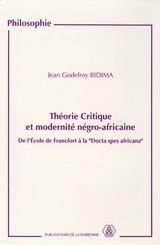 Théorie critique et modernité négro-africaine