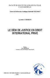Chapitre II. Injustice manifeste et conflit de lois