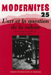 L'art et question de la valeur