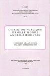 L'opinion publique dans le monde anglo-américain