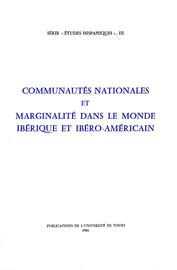 Communautés Nationales Et Marginalité Dans Le Monde Ibérique Et