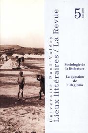 Sociologie de la littérature : la question de l'illégitime