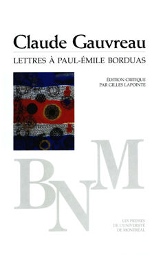 Lettres à Paul-Émile Borduas