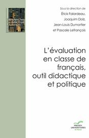 Vers un référentiel pour l'évaluation: choix politiques et enjeux didactiques