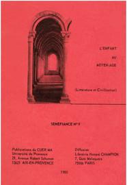 Le vocabulaire de l'enfance et de l'adolescence dans les recueils de miracles latins des xie et xiie siècles