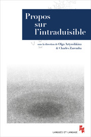 Inexprimable, indicible, intraduisible