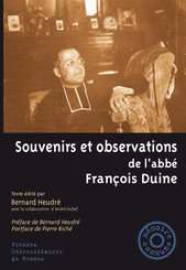 Souvenirs et observations de l'abbé François Duine