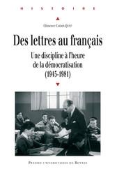 Des lettres au français