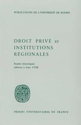 Droit privé et Institutions régionales