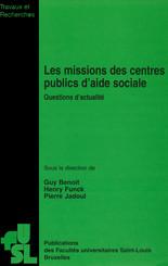 Les missions des centres publics d'aide sociale
