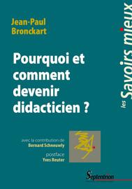 Pourquoi et comment devenir didacticien ?