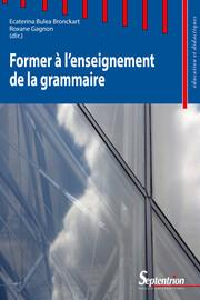 Former à l'enseignement de la grammaire
