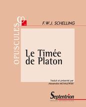 Le Timée de Platon